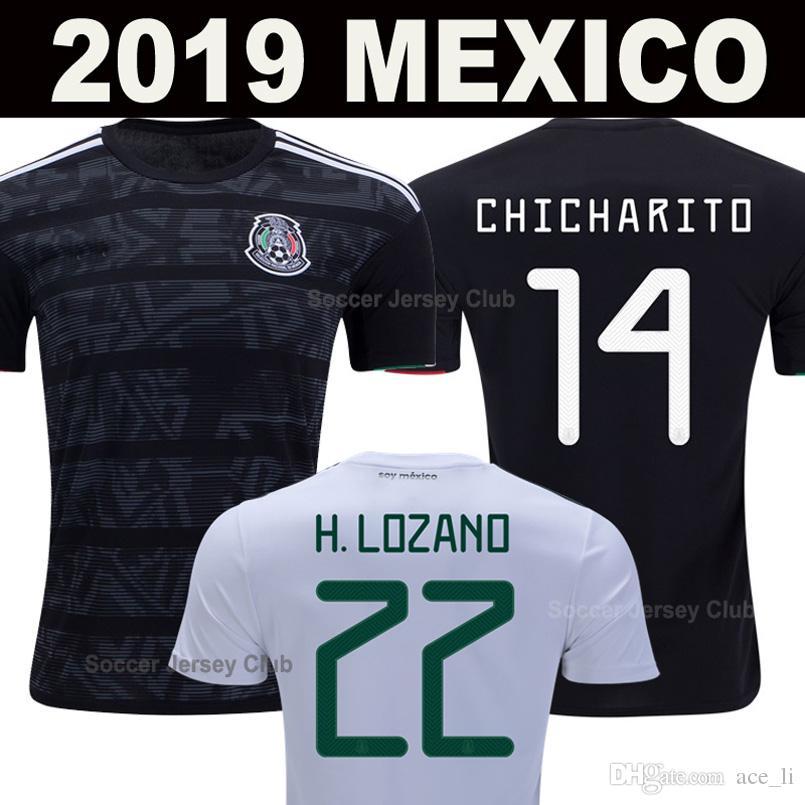 fff98919b 2019 2019 Mexico Soccer Jersey Black CHICHARITO LOZANO MARQUEZ DOS SANTOS  HERRERA LAYUN 20 Gold Cup FootbalL Shirts Thailand Camisetas De Futbol From  Ace li ...