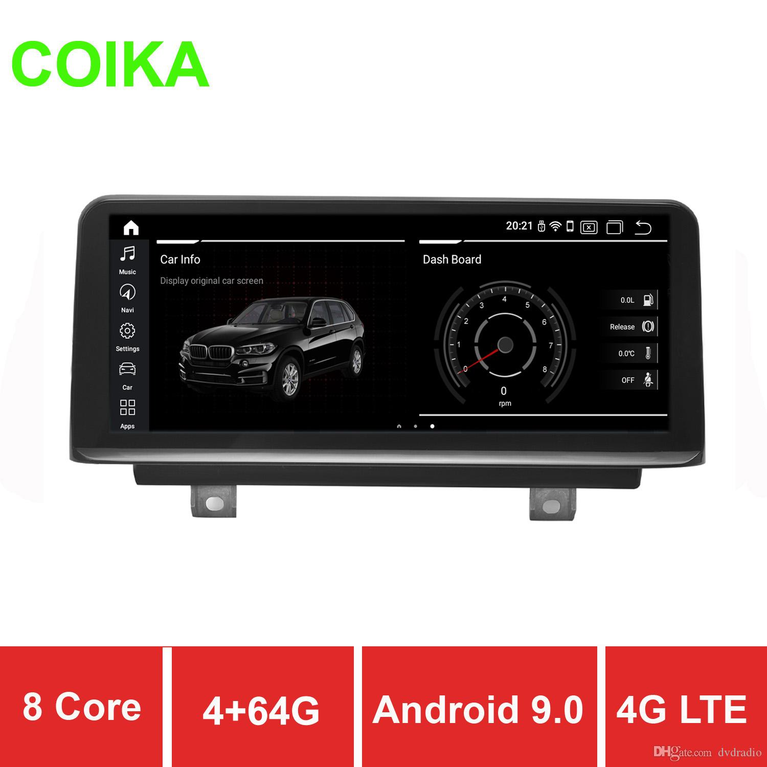 COIKA Car DVD Radio Stereo 8 Core 10.25'' For BMW F20 F21 F23(Cabrio) 13-17 4+64GB RAM WIFI 4G Android 9.0 DSP SWC BT Google Touch Screen