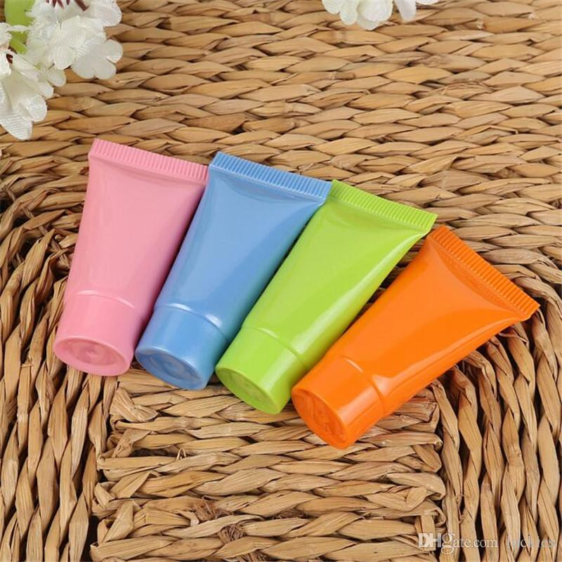 285d234f2994 5ml 10ml Empty Refillable Plastic Tubes Sample Packing Bottles Cosmetic  Mini Containers for Shampoo Shower Gel Body Lotion Cream