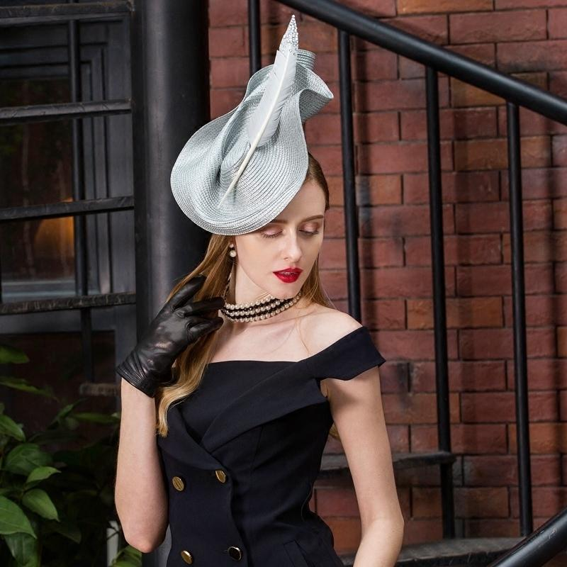91ef7085a536b Patchwork Pillbox Hat Weddings Dress Hat Vintage Fedora Ladies Elegant  Feather Sinamay Base Bridal Jockey Club Hat B 8176 D19011102 Baby Hats  Bucket Hats ...