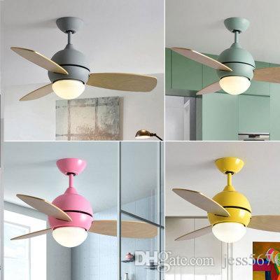 LED Balcon Ventilateur de Plafond lumière étude de la Mode