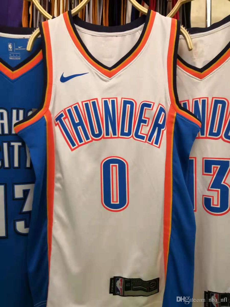more photos ec000 a888b 2020 New Mens Thunders Russell Westbrook Home White Swingman Basketball  Jersey AU Hot Pressing Printed Name Number Authentic US Size XXS-XXL