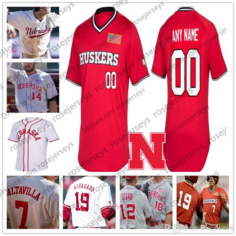 buy popular 85bc0 f029f Custom Nebraska Cornhuskers 2019 College Baseball Gray White Red Stitched  Any Number Name 4 Alex Gordon 2 Jaxon Hallmark huskers NCAA Jersey