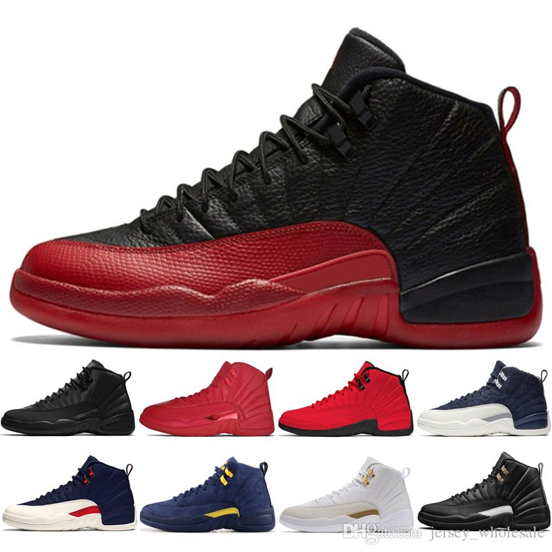 superior quality f03f7 b0126 12s Winterized WNTR Gym Red Michigan Mens Basketball Shoes The Master Flu  Game Taxi Wheat Dark Grey 12 men sports sneakers trainers US 7-13