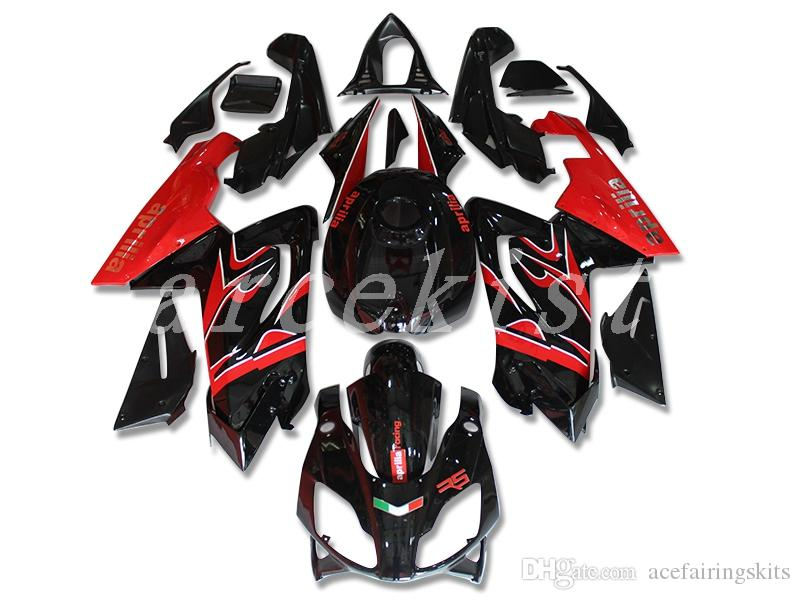 New bike Fairings Kit For Aprilia RS4 RSV125 RS125 07 08 09 10 11 12 RS125R RS-125 2006 2007 2008 2009 2010 2011 2012 set custom black red