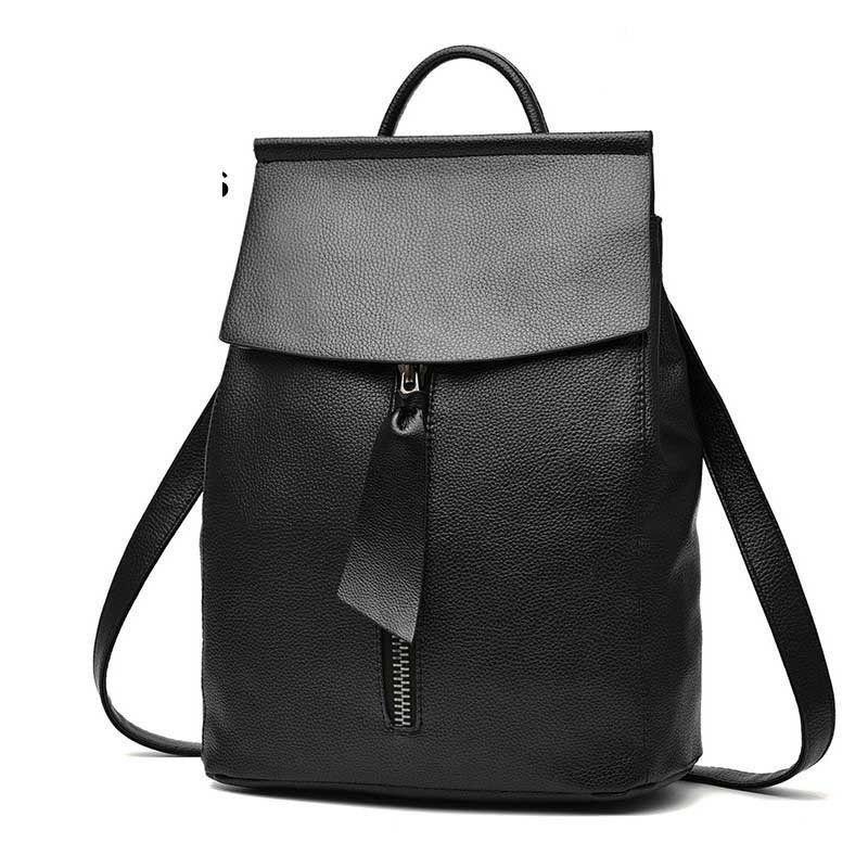 b7b3a5acc7 Good Quality 2019 Women Backpack Travel Bag For Women Minimalist Design  Little Tie Zipper Casual Daypack Mochila Female Famous Brand Personalized  Backpacks ...