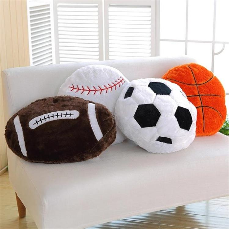 Simulation Spherical Basketball Football Baseball Pillow Sofa Cushion Nap To Send Boyfriend Birthday Fans Gifts T8I085 Replacement Cushions Outdoor