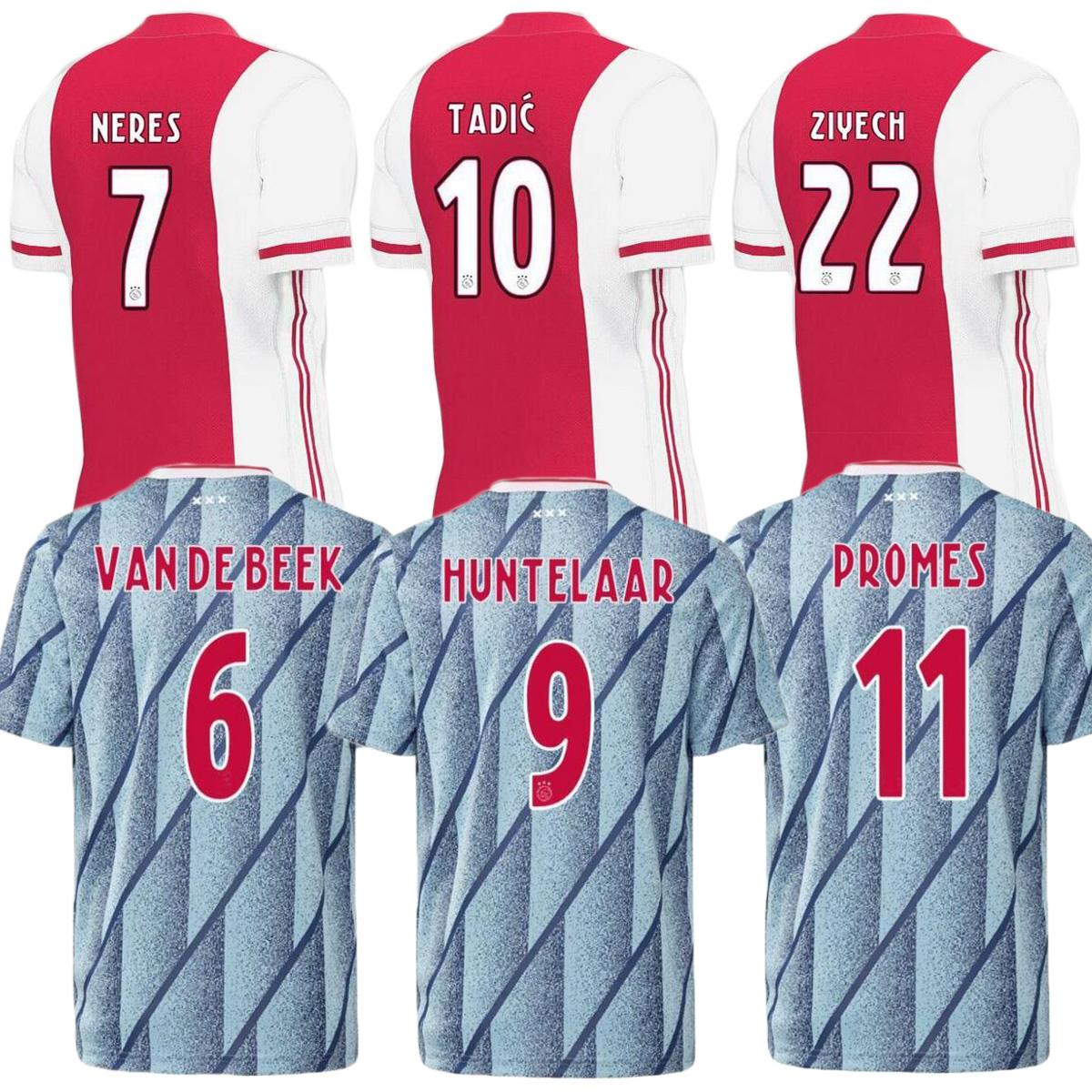 2020 2020 Ajax FC Soccer Jersey 2020 2021 PROMES VAN DE ...