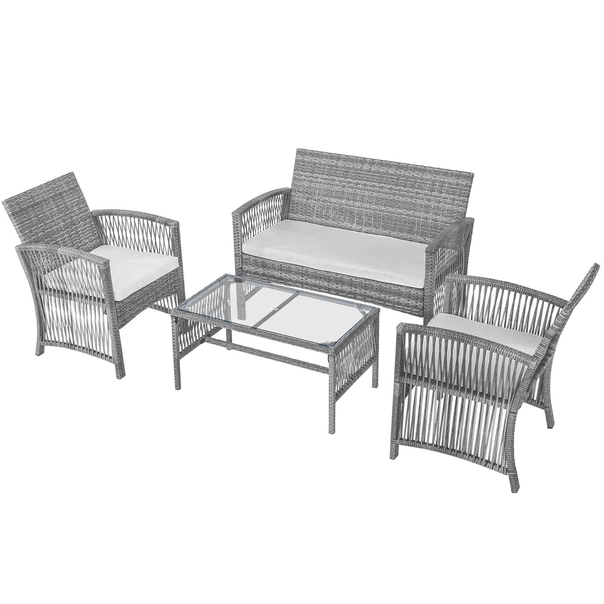 2020 WACO Outdoor Patio Furniture Rattan Chair & Table Set ...