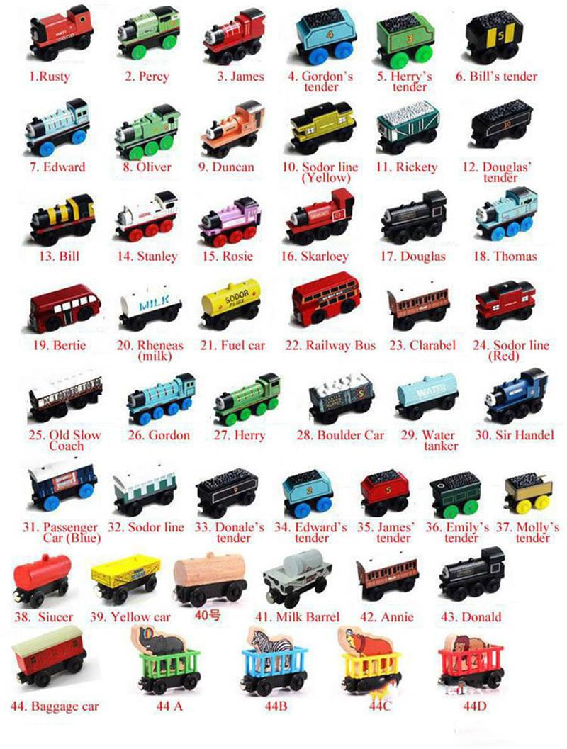 Diecast Model Cars Original StylesFriends Wooden Small Trains Cartoon Toys Woodens Trainss & Car Toy Give your child gift