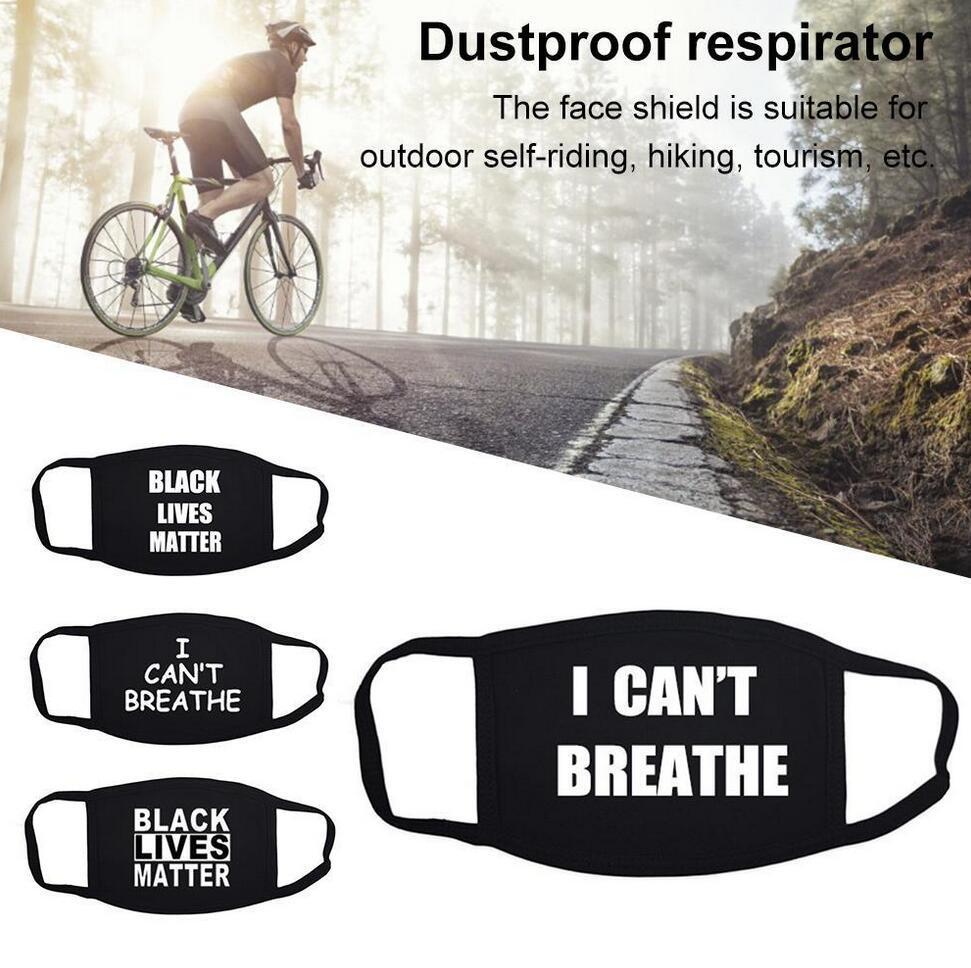 I Cant Breathe Face Masks In Stock Washable Cotton Masks Black Lives Matter Masks Fashion Designer Mask for Adults