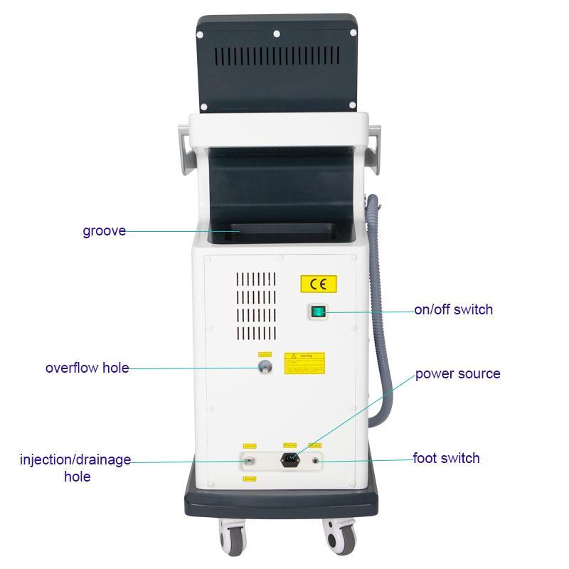 alta qualuty depilazione laser macchina 808nm diodo laser depilazione permanente imballaggio alluminio Scatola lega