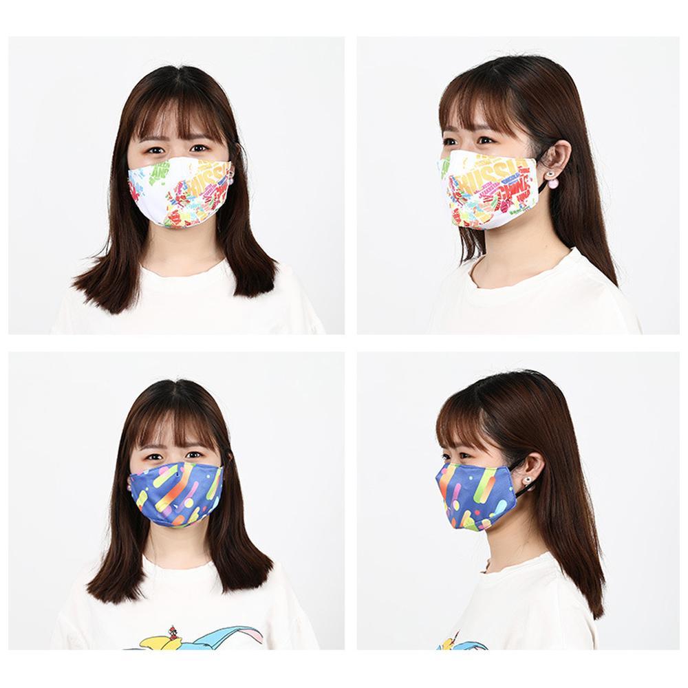 Maschera la stampa digitale Maschera la moda in cotone Maschera la moda Lavabile Dispositivo di maschera antipolvere traspirante filtro inseribile Anti-smog Mask i all'ingrosso
