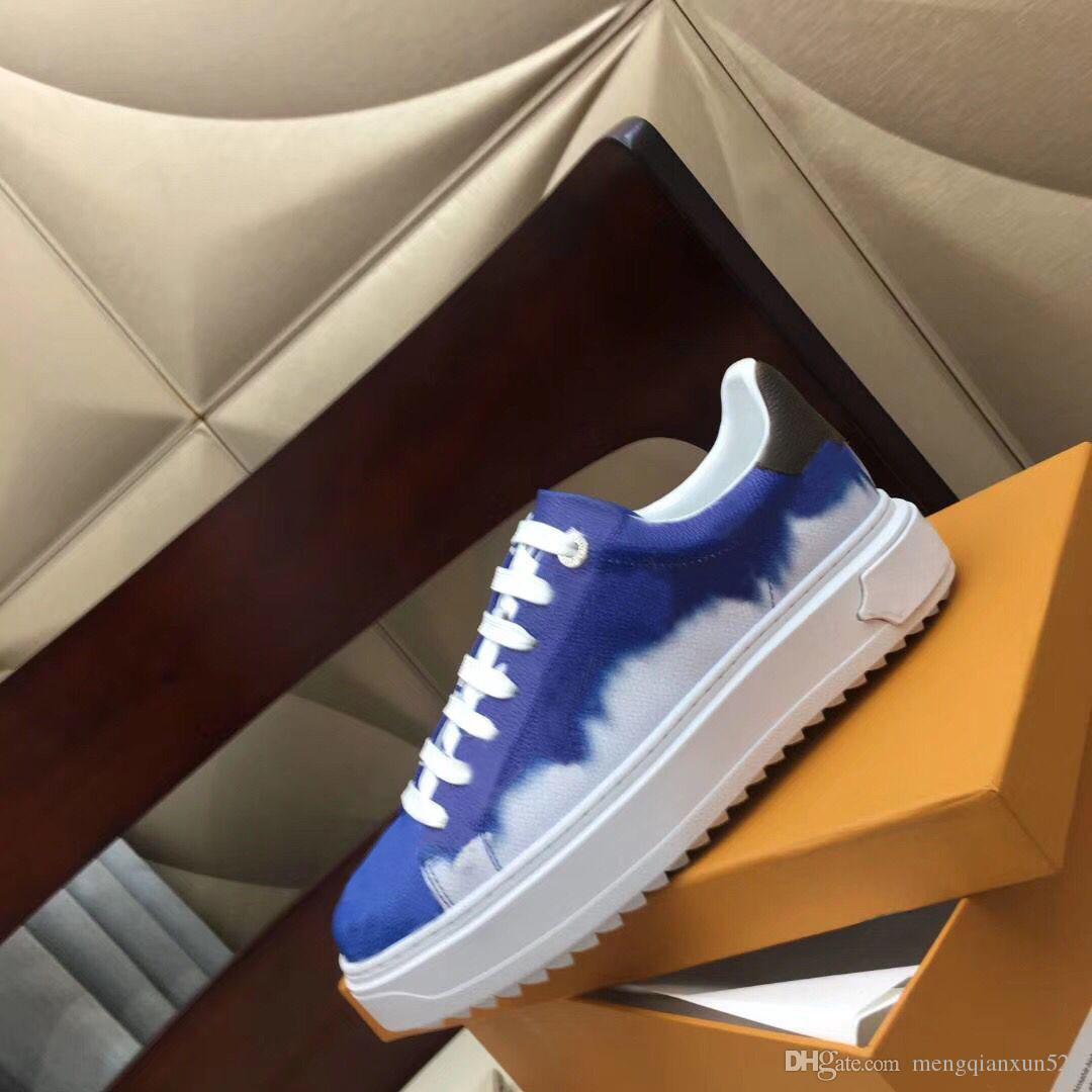 Lady Rahat Ayakkabılar 100% Baskılı Deri Düz Sneaker Harfler Dantel-up Kadın Ayakkabı Moda Platformu Yeni Bayanlar Eğlence Ayakkabı Büyük Boy 35-42