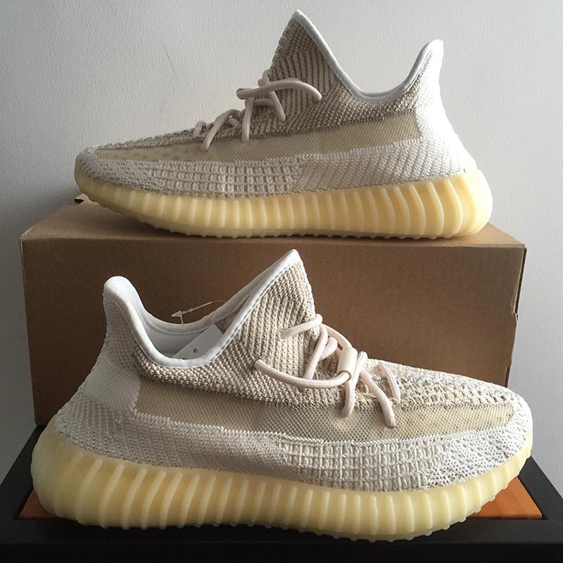 TOP Kalite 2020 Kanye West Erkekler Kadınlar Sneaker Yecheil Abez cüruf Kuyruk Işık Çöl Adaçayı Siyah Statik Yansıtıcı Zebra Toprak Ayakkabı Koşu