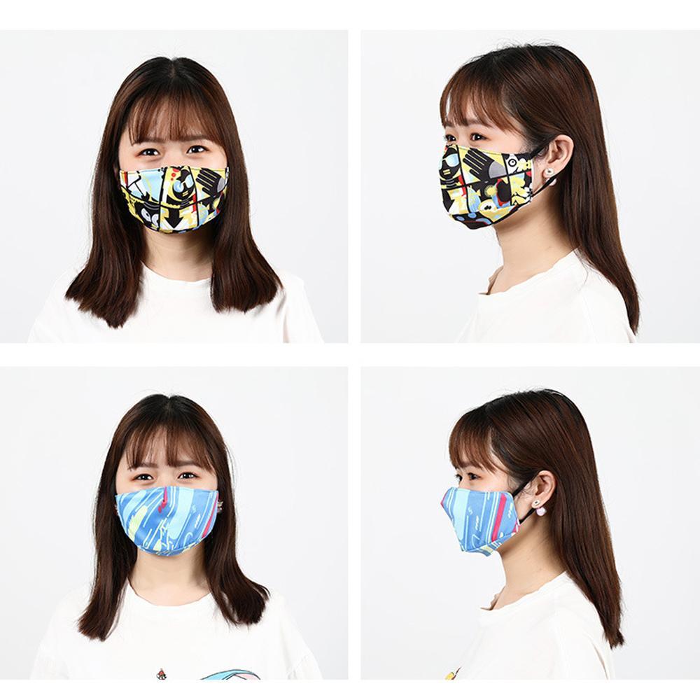 Maschere Stampa Digitale cotone di modo maschera antipolvere lavabile traspirante Maschera inseribile Filtro Anti-smog Mask i all'ingrosso