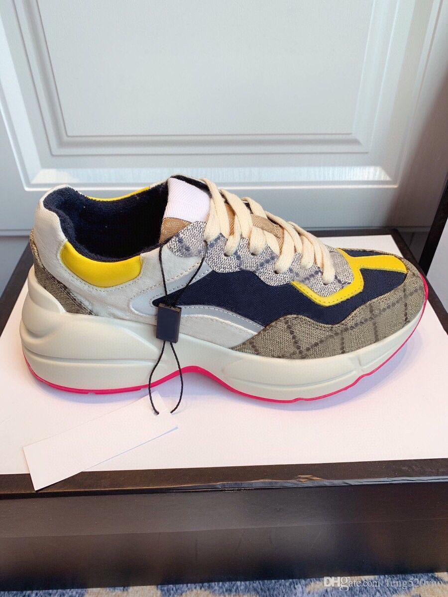 سيدة مصمم أحذية عادية 100٪ جلد إمرأة حذاء رياضة رسائل الدانتيل متابعة الفاخرة منصة الأحذية أزياء المرأة أحذية الرجال جديدة كبيرة الحجم 35-42-45