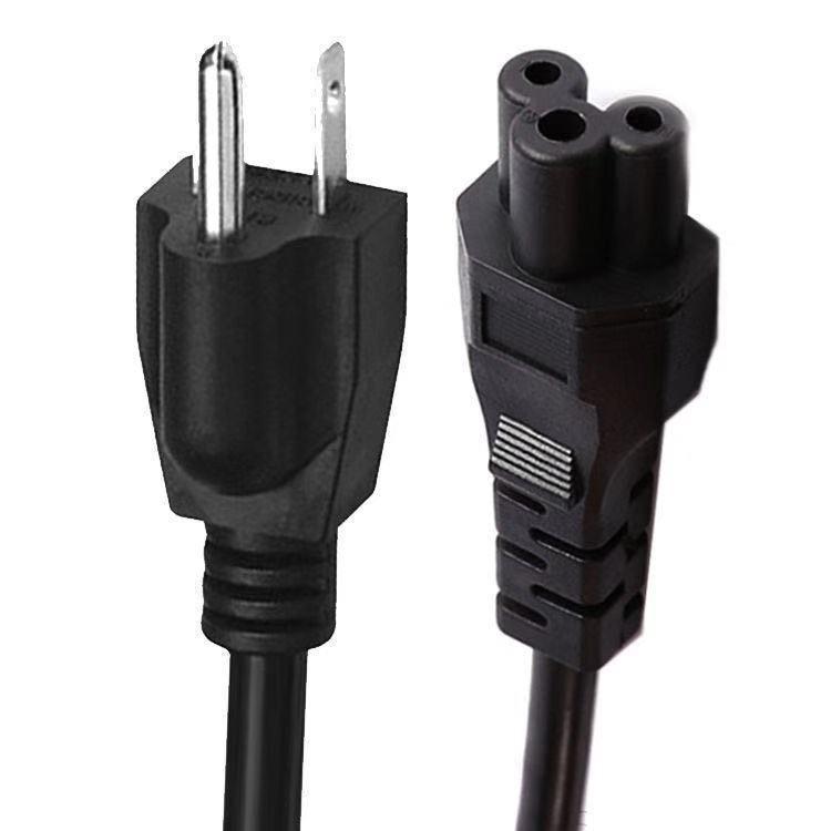 Высокое качество 1,5 м Длина шнура Используйте для ноутбуков Адаптеры переменного тока с 3 Prong США штекер кабеля питания