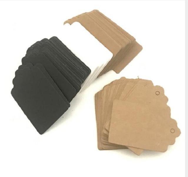 9 * 4,5 cm Bruin Wit Schelpen Lege Cardstock Prijskaartje, Hang Tag, Retro Gift Hang Tag, Place Card