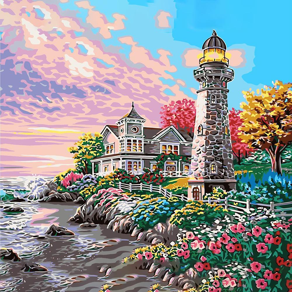Beach Oil Painting Color Multi-Names Premium Canvas 2