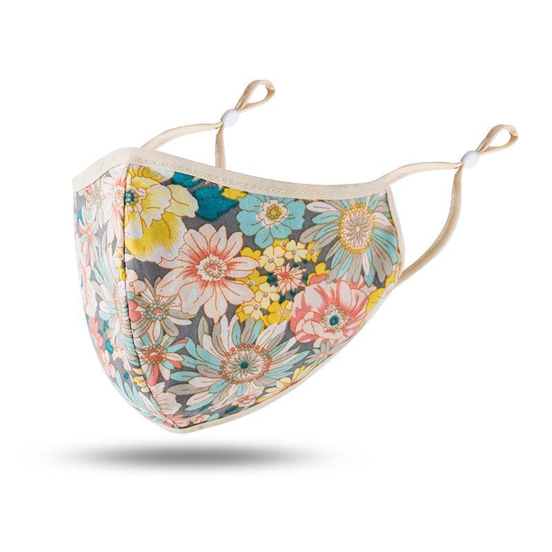 Paisley çiçek dantel kamuflaj düz renk tasarımcı yüz ayarlanabilir koruyucu maske toz maskesi ve nefes Güneşlik yüz maskeleri haze