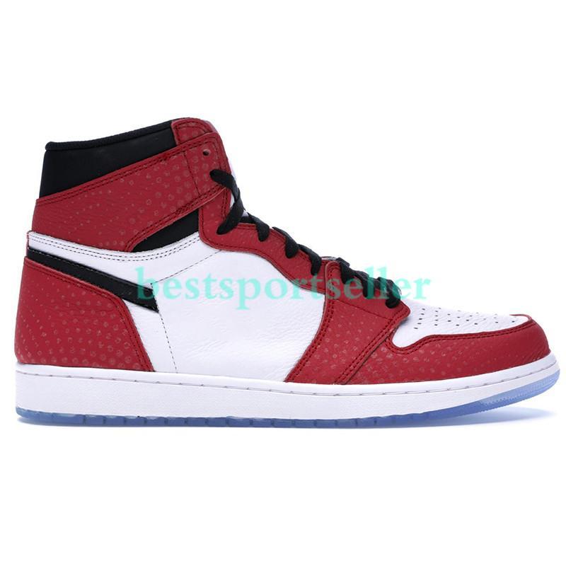 Kutu ile yüksek zoom beyaz yarışçı mavi 1 1 s og jumpman basketbol ayakkabı chicago angeles mavi toe kurt gri klasik koşu spor ayakkabı