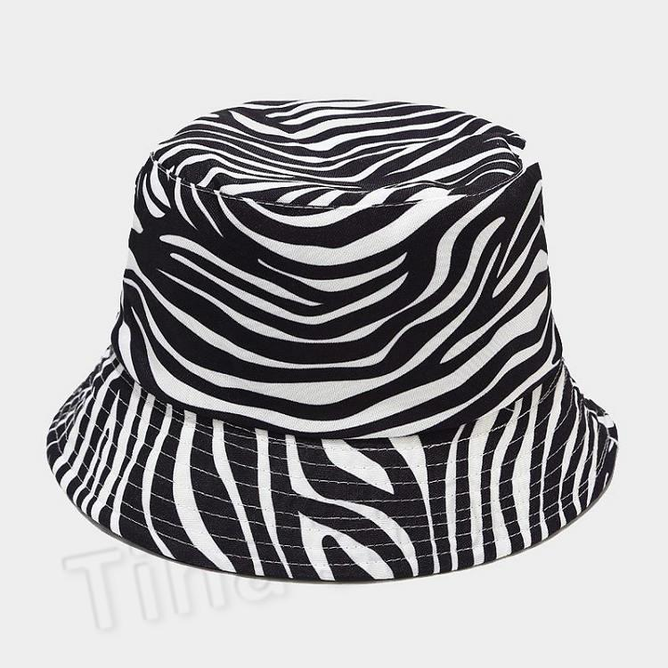 Milch Vache Imprimer Double panda design animal hommes chapeau chapeau Bucket Parti chapeau de pêcheur chapeaux 3 femmes de style T2C5254