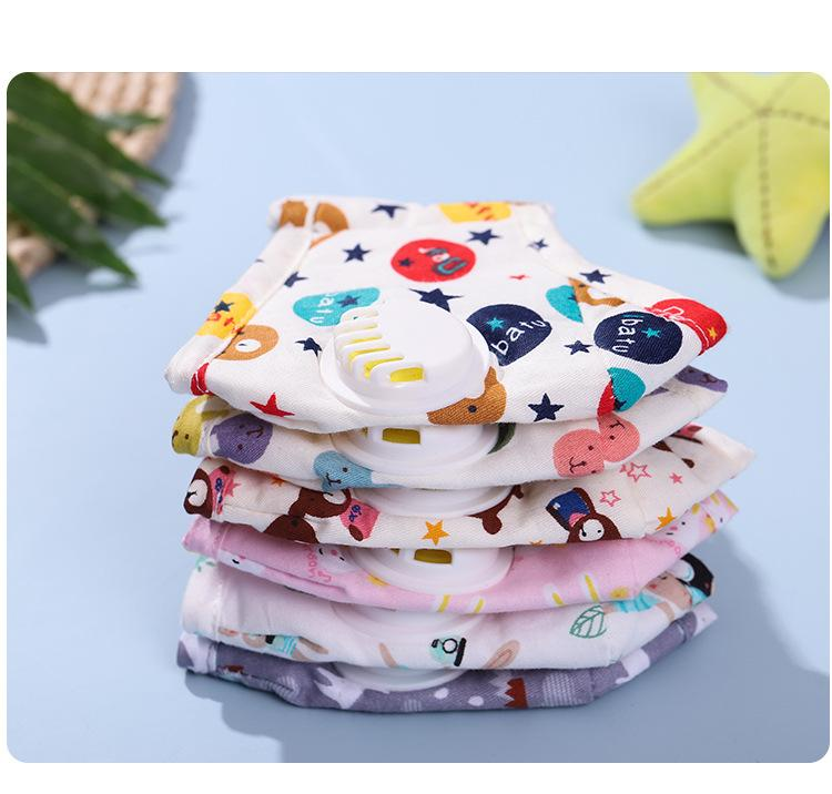 Cloth Cotton Designer face mask Printed plain face masks with breathing valves are dustproof and smog-proof, comfortable and breathable