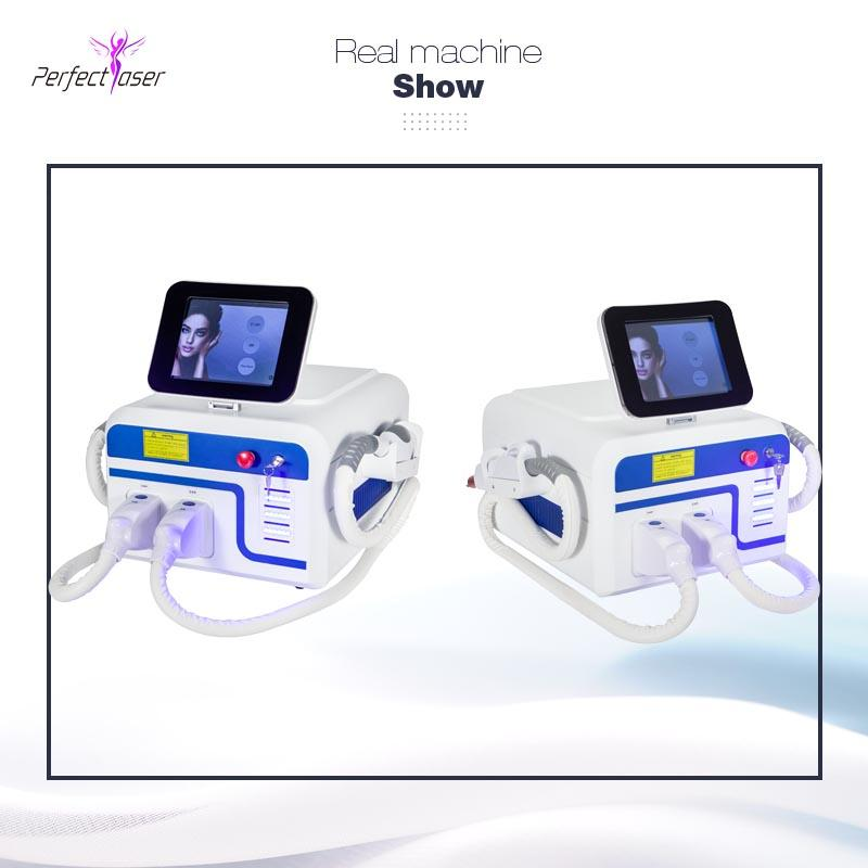 Hot sale elight Hair Removal ipl laser acne machine yag laser switch 3 handles multifunctional beauty machine