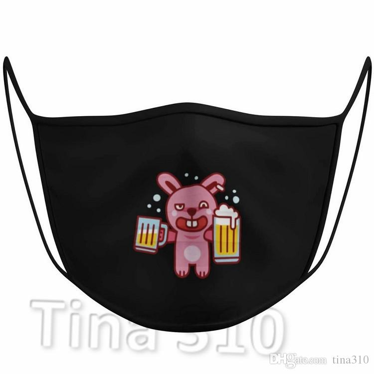 hot Cartoon Pattern Skull Mask PM2.5 Anti Dust Face Mask Black Cute 3D Printed Half Face Masks Designer Masks T2I51178