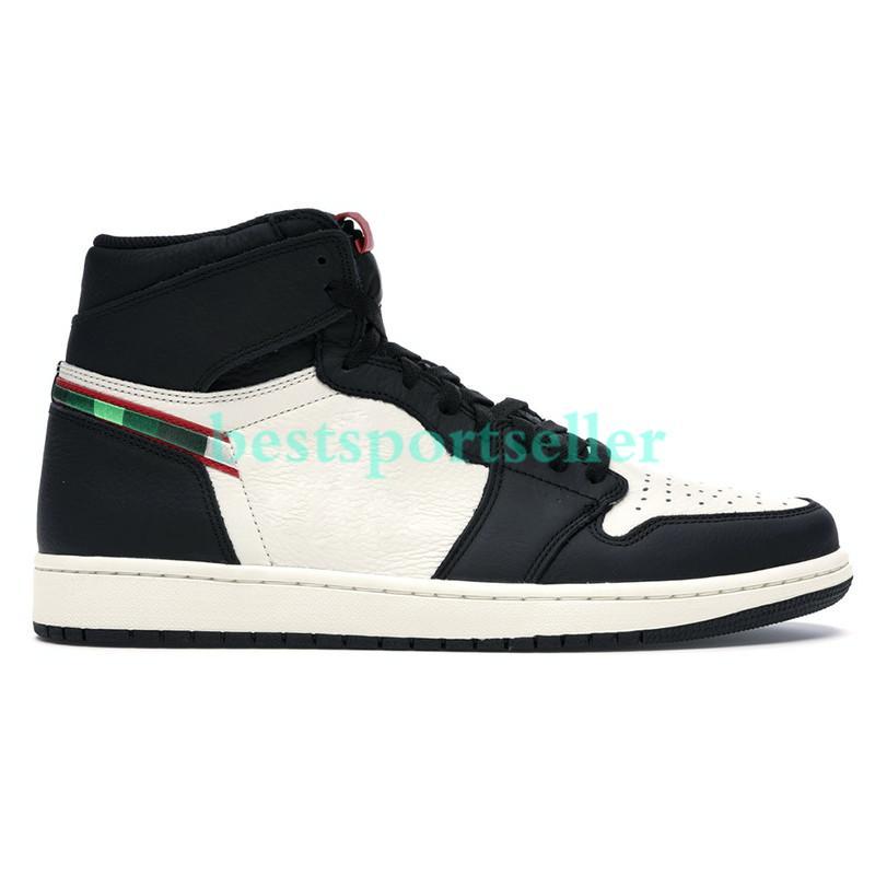 ارتفاع 1 1S أحذية OG Jumpman كرة السلة الأبيض شيكاغو UNC مسحوق أزرق منتصف الليل البحرية الخوف الرجال التعادل صبغ الشراع اسكواش التكبير تشغيل أحذية رياضية