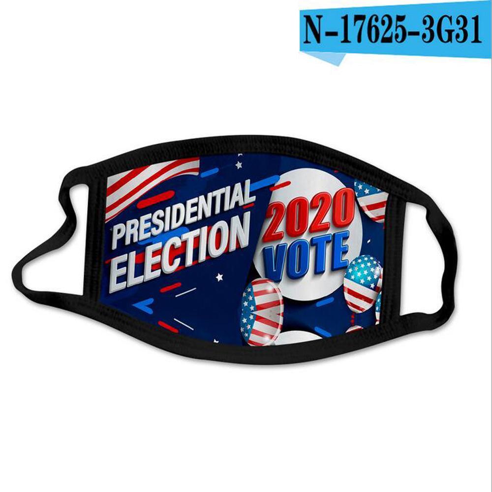 Impresión 3D Trump Mascarilla PM2.5 a prueba de viento la boca de algodón máscaras de niño o adulto Máscaras estadounidense Elección Estados Unidos negros 44 tipos