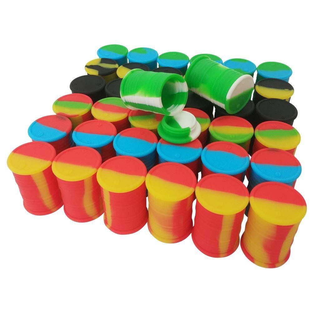 силиконовое масло бочка контейнеровозов Фляг Dab воска испарителем каучука барабан форма контейнера 11 мл кремния сухой травы Dabber DHL хранения инструмента концентрат