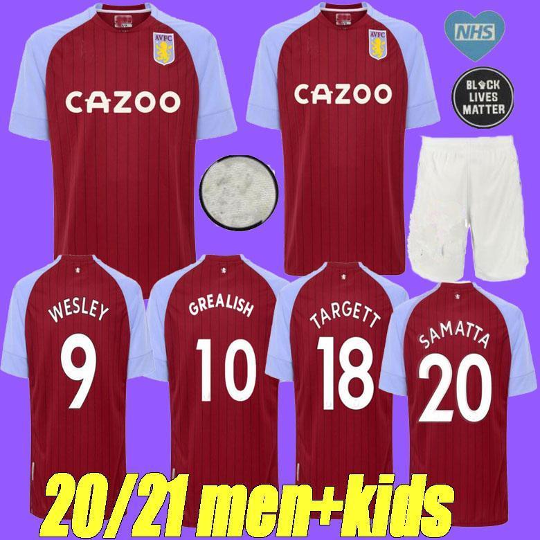 2020 2020 2021 GREALISH Aston Villa Soccer Jersey 20 21 ...