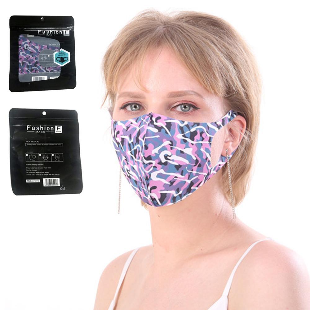 Maschera viso lavabile riutilizzabile anti-polvere bocca maschera viso maschera in cotone camuffamento maschera anti-freddo maschera viso umanizzato maschere faccia nuovo arrivo