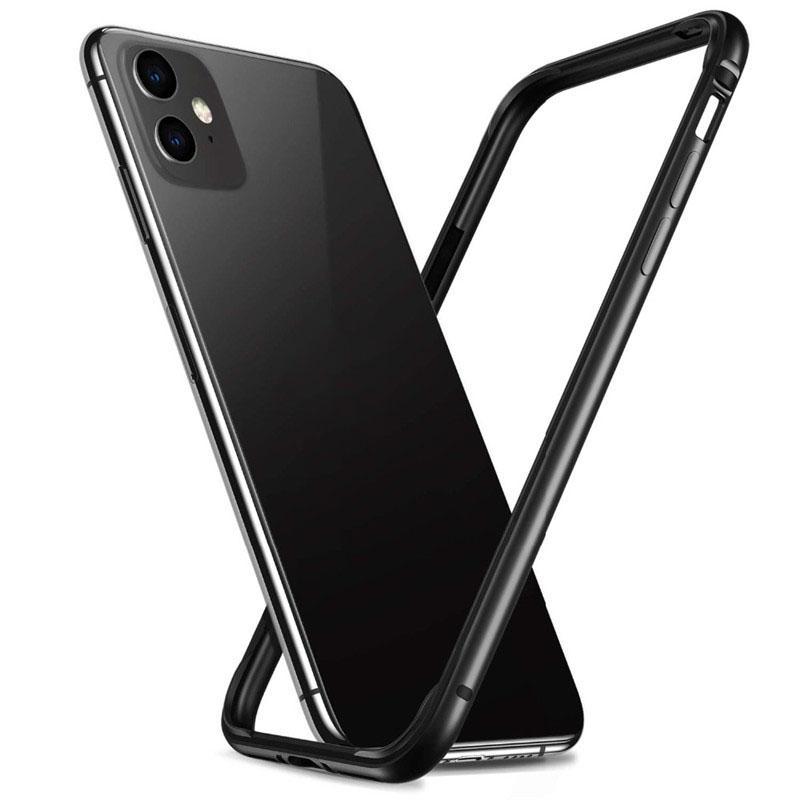 iPhone pára-choques capa para 11 Pro Quadro Max Silicone Metal para iPhone 11 X XS XR 7 8 Plus SE 2020 SE2 Preto Prata Phone acessórios de luxo