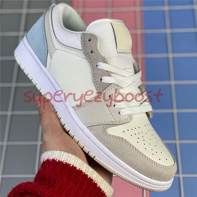 Nueva llegada bajas Jumpman 1 1s zapatos de baloncesto grises vela negro OG SP Travis Scotts UNC hiper reales hombres N7 mujeres las zapatillas de deporte