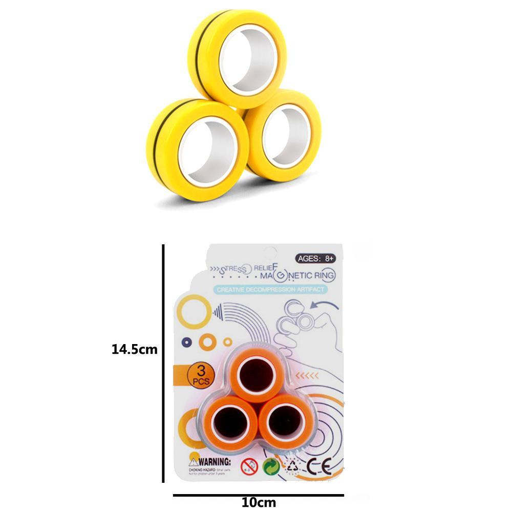 Anello magnetico Relief giocattolo antistress Fingears stress Reliver Finger Spinner Giocattoli anelli adulti bambini regali di Natale / set Disponibile