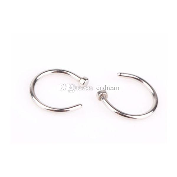 Women Stainless steel nose ring C shape Body Hoop Piercing jewelry fashion will and sandy gift