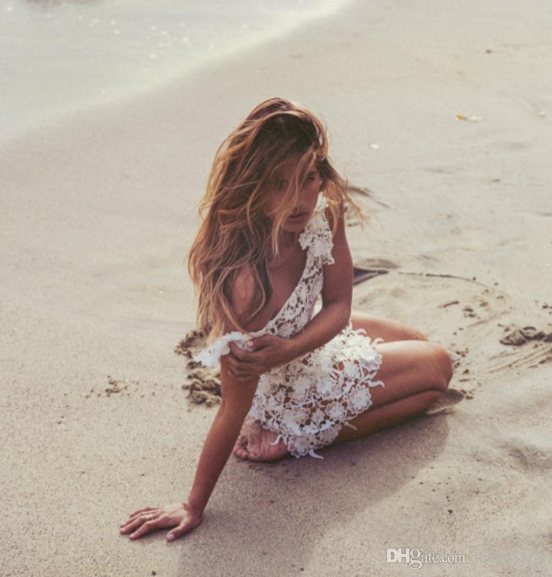 Летнее платье Вязаные Hollow пляж Жилет Платье Perspective сексуальное бикини Блуза Seaside Lace Платья Одежда Vestidos