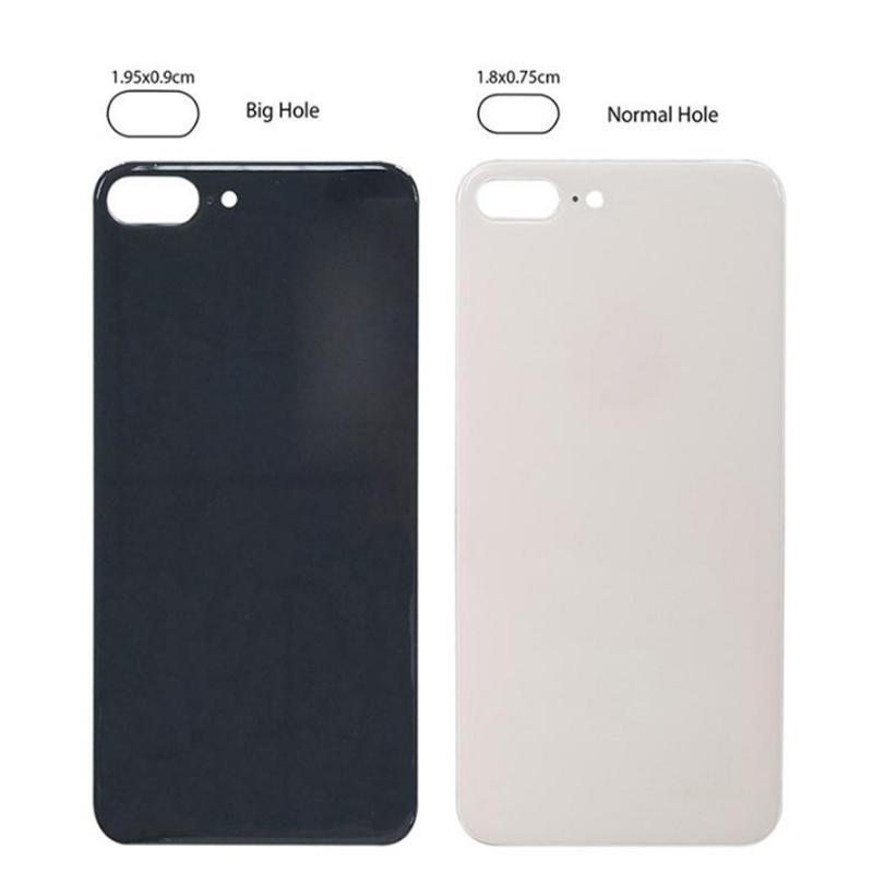 iPhone 12 11 8 Plus XS XS Max batteria in vetro alloggiamento ricambio copertura posteriore grande foro foro con adesivi