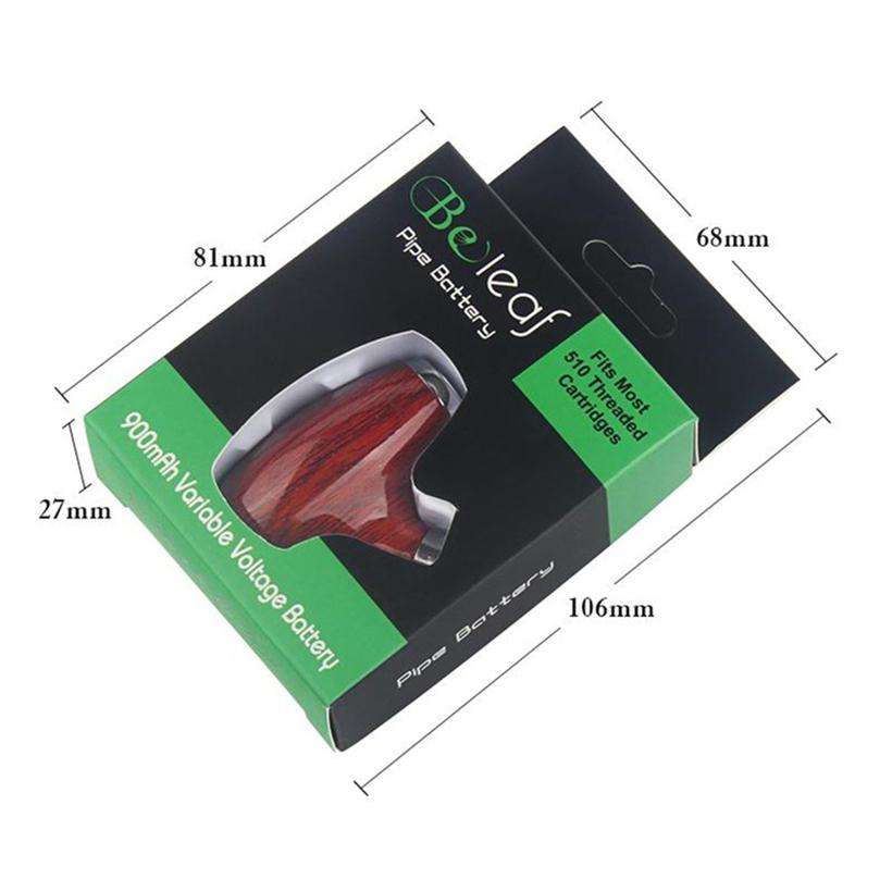 E Rohr Vape Mechanische Mod Kit elektronische Zigarette Beleaf vorheizen Variable Spannung 900mAh 510 Gewinde für dickes Öl-Plätzchen Cartridges