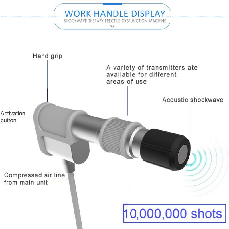 صدمة العلاج موجة القضيب المعدات gainswave الصوت موجة لإد الانتصاب آلة ضعف CE المعتمدة موجة صدمة لعلاج الألم