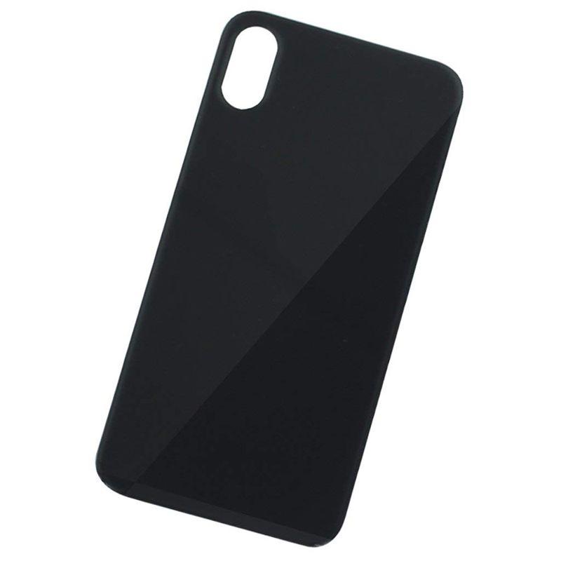 Para iPhone 12 11 8 Plus X XS Max Batería de la batería Reemplazo de reemplazo de la cubierta de la parte posterior Cámara de agujero grande con pegatinas