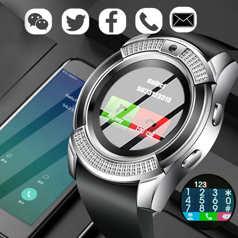 V8 Smart Watch Bluetooth Watches Android with 0.3M Camera MTK6261D DZ09 GT08 Smartwatch for apple Smartwatch For IOS Android