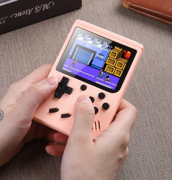 Macarons Mini Handspiel-Konsole 400In1 Retro tragbare Videospielkonsole 8 Bit 3,0 Zoll bunter LCD Cradle-Design