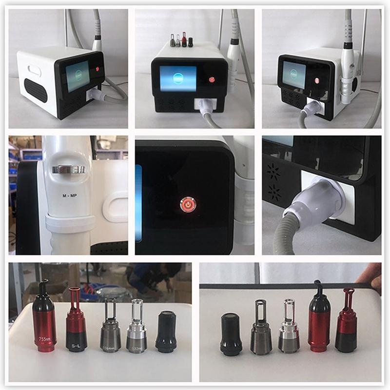 Yeni Taşınabilir Büyük güç 2500W Dövme Pigmentler Kaldırma Q Switch ND YAG LAZER Güzellik Salonu makine