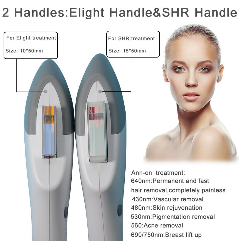 Haute efficacité picoseconde laser + IPL / lumière épilation SHR / OPT / DPL retrait rapide lifting facial cheveux machine