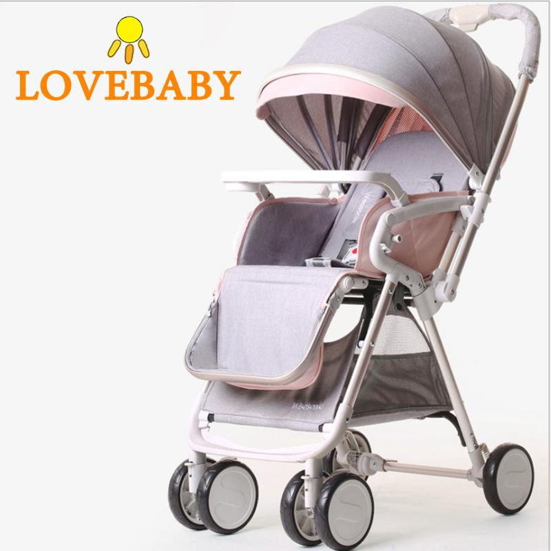 2020 2020 New Baby Stroller 2 IN 1 Light Weight Travel ...