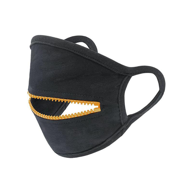 Fashion Zipper-Gesichtsmaske Waschbar Wiederverwendbare Radfahren Schutz Erwachsener Staubdichtes Breathable Sports Designer Gesichtsmaske Maske